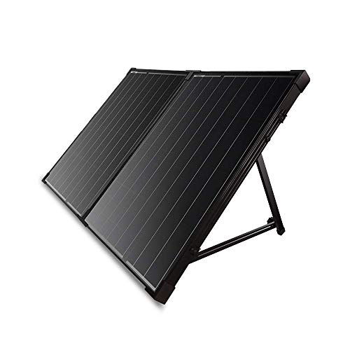 Renogy 100W 12V Protable Foldable Monocrystalline Solar Panel, Folding Solar Charger with 10A LCD Waterproof Charge Controller for Camping RV Van, 100W Panel-10A Controller