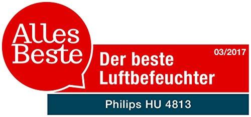 Philips Luftbefeuchter HU4813/10 (bis zu 44m², hygienische NanoCloud-Technologie, leiser Nachtmodus, Automodus) - 8