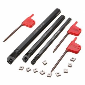 SCLCR 7x125mm 10x125mm 12x150mm Drehmaschine Bohrstange Drehen Werkzeughalter mit 10 stücke CCMT0602 einfügen