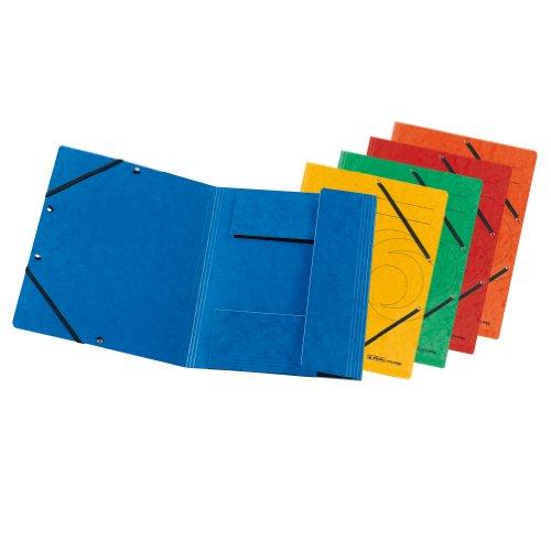 herlitz 10902864 Einschlagmappe A4 mit Gummizug, farbig sortiert, 10 Stück