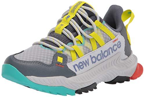 New Balance Womens DynaSoft Shando V1 Sneaker Light AluminumSulphur YellowLead 5 Wide