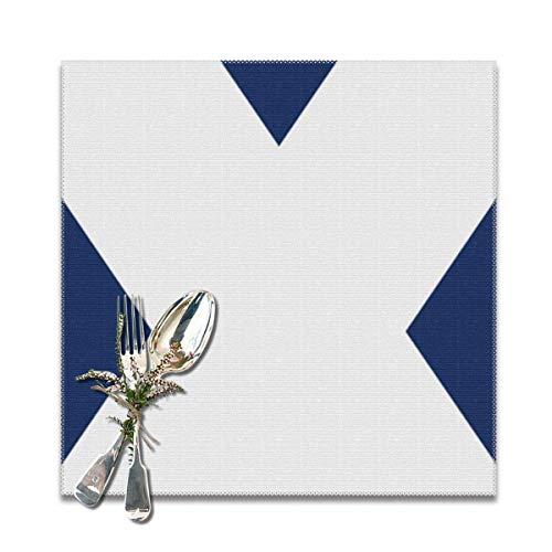 Bandera de Tenerife Nuevo juego de 6 manteles individuales Mantel aislante 12X12 pulgadas resistente al calor para mesa de comedor