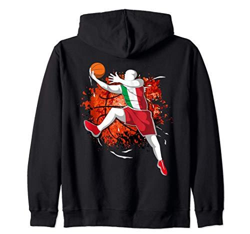 Italia Baloncesto - Bandera Nacional de Italia Sport Lovers Sudadera con Capucha