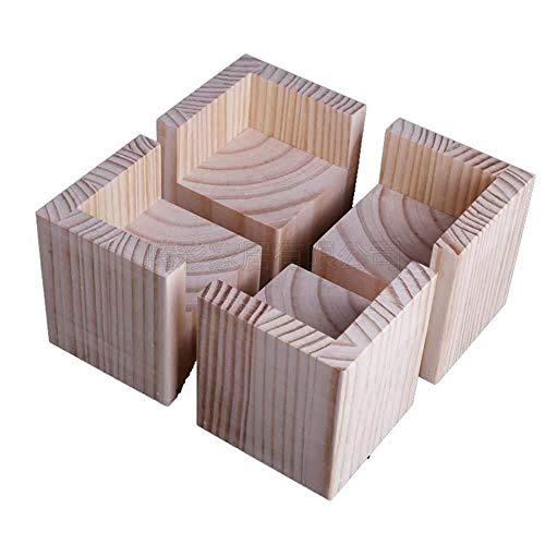 XXT Passend zu Tisch und Stuhl Füße 4 × Table Leg Heighten Bett Fuss-Kissen Hoch Sofa Fuß Möbel Stützfuß Kabinett Fuß Bettfuß Komplette Vielfalt (Size : 10 * 10 * 5cm)