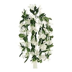 White 26″ Hanging Hibiscus Bush Artificial Silk Flowers Wedding Arch Centerpiece Vines , for Wedding and Craft Supplies