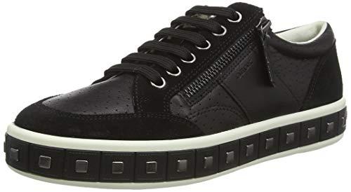 Geox D LEELU E, Zapatillas para Mujer, Negro (Black C9999), 40 EU
