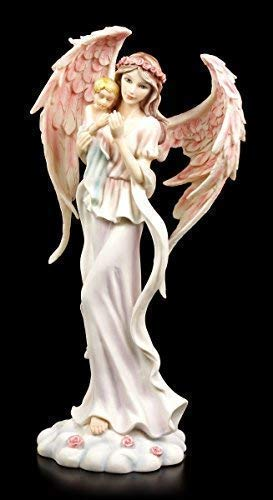 Engel Figur - Haamiah mit Baby - Schutzengel Kind