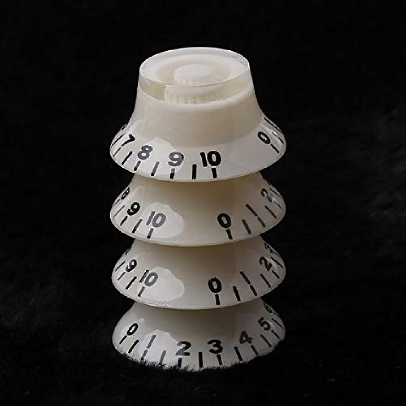 Susie-Smile - 1pc Knob Button Bell Shape Guitar Tone Volume Control For LP Guitar Parts White Black