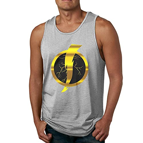 rain Static Shock Mans 3D Print Tank Tops Sleeveless T-Shirt for Gym/Running/Workout Camisetas y Tops(X-Large)