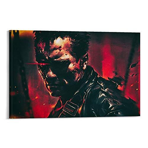 JNFB Terminator 2 Wallpapers 4K Poster décoratif sur toile pour salon, chambre à coucher 60 x 90 cm