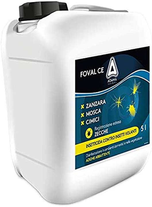 Insetticida mosche zanzare cimici dei letti zecche adama foval ce 5 litri B07FKKZJFX
