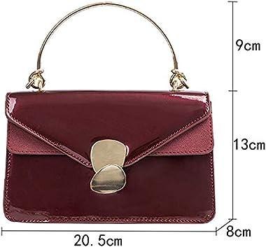 mega Women Evening Envelope Handbag Patent Leather Top Handle Satchel Fashion Chain Shoulder Bag