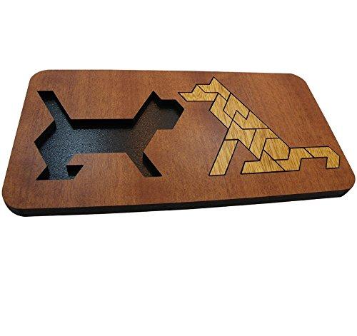 イヌとネコ-入れ替えパズル 幼児 Dog and Cat 知育に最適 脳トレ Packing Problem Wooden Puzzle[並行輸入]