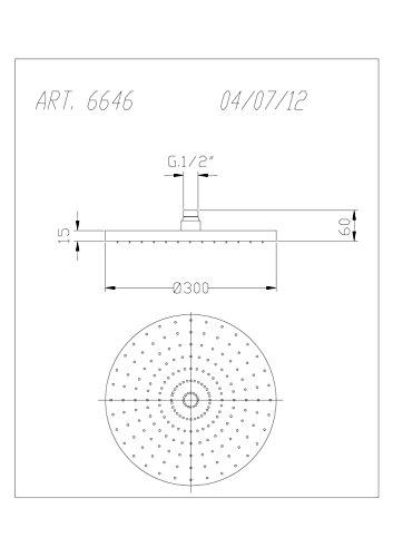 Fromac Kopfbrause Ø30 cm SOFFIONI ABS Ausführung: chrom 6646, 61440.C