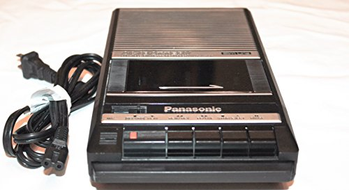 Panasonic Slim Line Portable Cassette Recorder Speaker AC & Battery Model RQ-2104