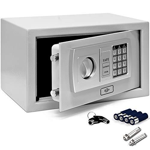 Deuba Caja Fuerte Seguridad Safe Plata Cierre electrónico 2