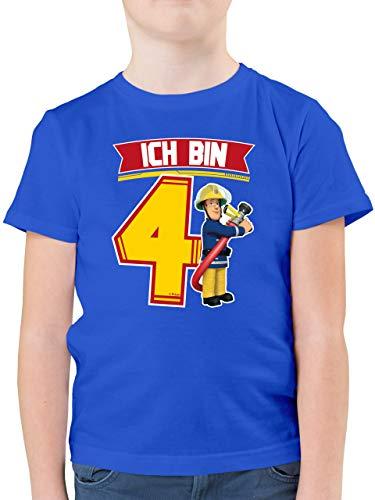 Feuerwehrmann Sam Jungen - Ich Bin 4 - Sam - 116 (5/6 Jahre) - Royalblau - t-Shirt sam der feuerwehrmann - F130K - Kinder Tshirts und T-Shirt für Jungen