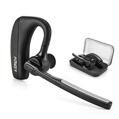 Auriculares Bluetooth, Manos Libres Oreja Auricular inalámbrico Bluetooth V4.1 Auriculares con Reducción de Ruido, Manos libres Auriculares con Micrófono para Oficina