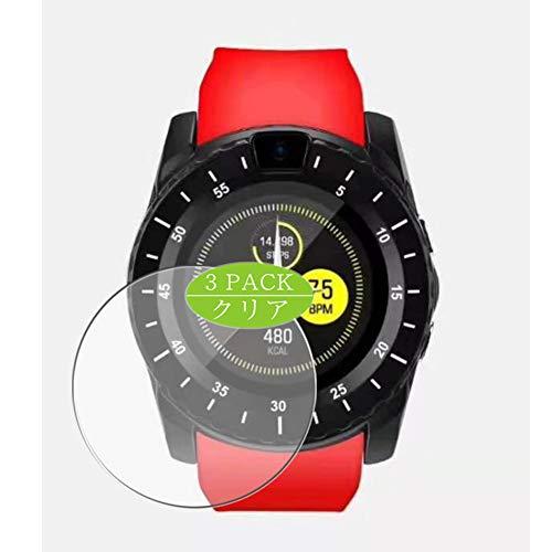 Vaxson - Protector de pantalla compatible con smartwatch V8 (3 unidades)