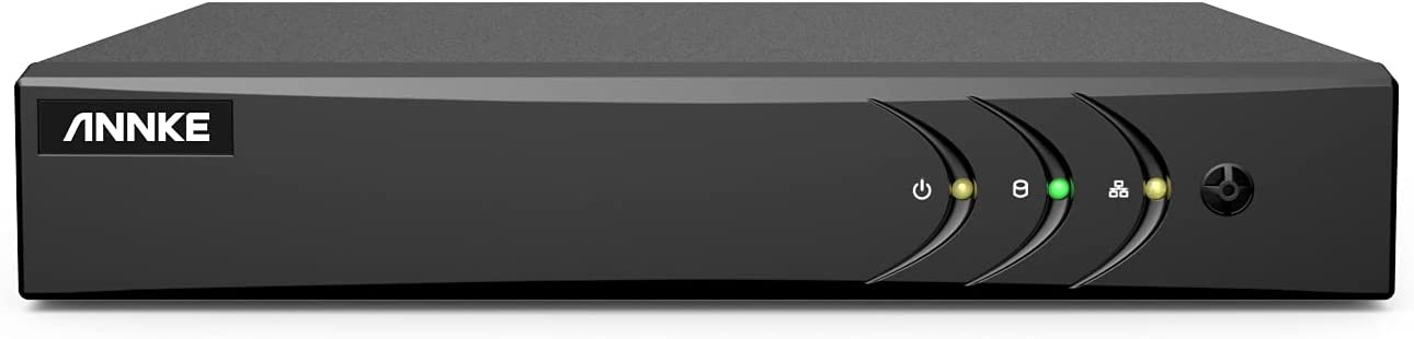 ANNKE 16-Channel HD-TVI 1080N Security Video DVR, H.264+ Video Compression for Bandwidth Efficiency, HDMI and VGA Outputs Both Support Up to 1080P, Remote Control, Email Alarm, NO HDD