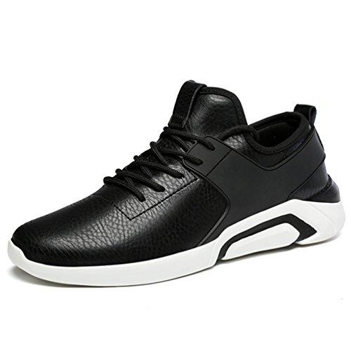 LanFengeu Herren Laufschuhe Entspannt Rund Toe Schnür-Sneakers Outdoor&Sports Low-Top Verbindung rutschfest Turnschuhe Schwarz 39 EU