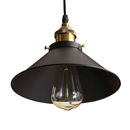 Hanglamp, moderne hanglamp, zwarte lampenkap, minimalistisch Scandinavisch licht van metaal van de afzuigkap, voor restaurant Loft