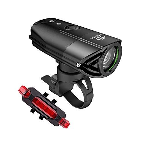 RESHEN Linterna Recargable Linterna de MTB for la lámpara de la Bicicleta Bicicleta Linterna de la luz Trasera LED 2000mAh USB BaoDingRenSheng