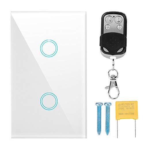 AMONIDA Interruptor de luz táctil de Respuesta rápida no direccional, Interruptor de Pared, protección contra Rayos Sistema antirrobo Sistema de Seguridad para Puertas de Seguridad para el hogar