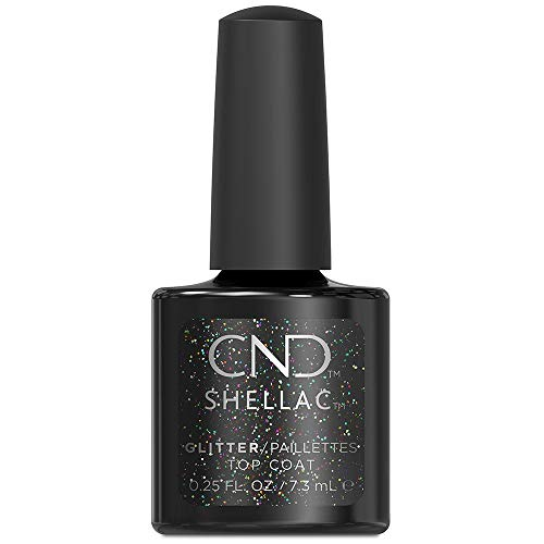 CND Shellac Capa superior con purpurina