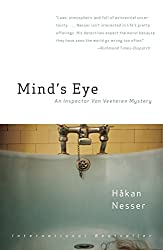 Books Set in Sweden: Mind's Eye by Håkan Nesser. sweden books, swedish novels, sweden literature, sweden fiction, swedish authors, best books set in sweden, popular books set in sweden, books about sweden, sweden reading challenge, sweden reading list, stockholm books, gothenburg books, malmo books, sweden packing list, sweden travel, sweden history, sweden travel books, sweden books to read, books to read before going to sweden, novels set in sweden, books to read about sweden