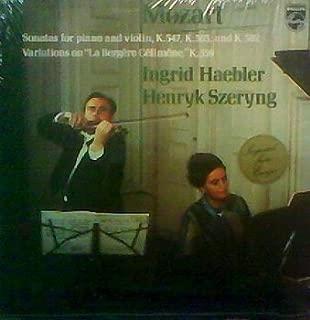 Mozart: Sonatas for Piano and Violin, K.547, K.303, and K.302 / Variations on