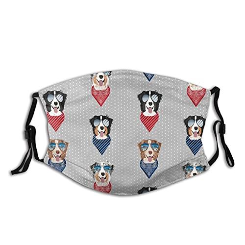 Reebos Gafas de sol unisex con diseño de pastor australiano de verano con cinta de ajuste para la oreja, lavable, para exteriores, deportes, ir de compras