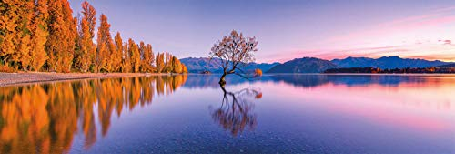 Clementoni Collection Panorama-Lake Wanaka Tree Adulti 1000 Pezzi, Puzzle panoramico, Made in Italy, Multicolore, 39608