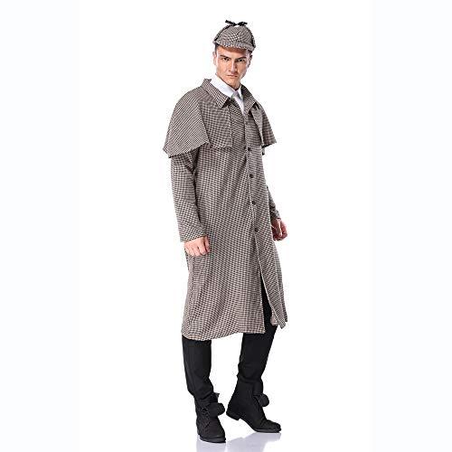 Zoyie Sherlock Holmes Detective Cosplay abrigo con sombrero adultos niños disfraces de disfraces chaqueta larga de moda para hombres mujeres niñas niños