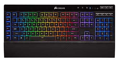 Corsair K57 RGB Wireless Gaming Keyboard (Dynamic Backlit RGB LED, Quiet and Responsive, Six Programmable Macro Keys, Up to 175 Hours Battery Life with Sub 1 ms Slipstream Wireless Technology), Black