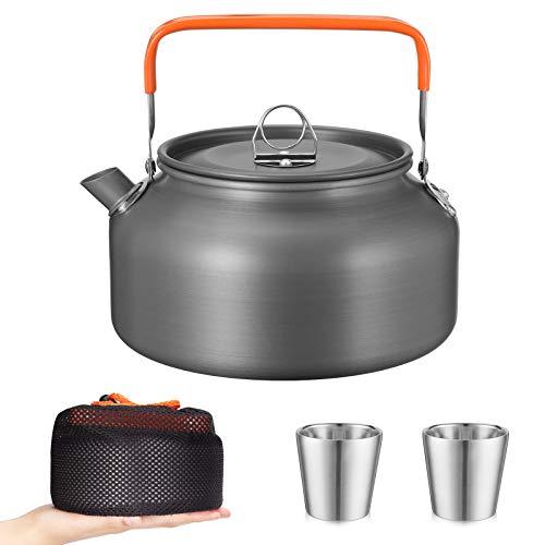Awroutdoor Camping Teekessel Kaffeekanne Outdoor Geschirr Set mit 1.2 L Teekanne für Outdoor Picknick Wandern