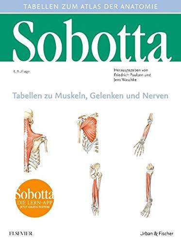 Sobotta Tabellen zu Muskeln, Gelenken und Nerven: Tabellen passend zur 24. Aufl. des Sobotta-Atlas