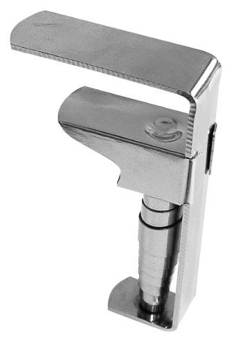 Fackelmann Tischtuchklammern TECNO, Tischdeckenklemmen aus vernickeltem Stahl, Tischdeckenhalter mit einer Spannweite von 18 - 55 mm (Farbe: Silber), Menge: 4 Stück
