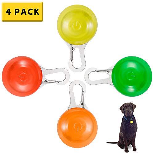 Clip-On Pet Collar de Perros LED Luz de Intermitente para Collar Impermeable Luz de Seguridad para Perros Gatos Niños Correr Correr Correpasillos para Trayectos de Noche Mascotas Regalos para Mascotas