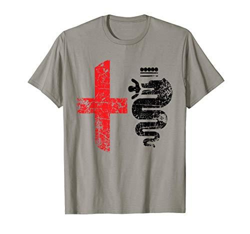 Alfa Car Drivers Stilvolles Grunge-Logo T-Shirt