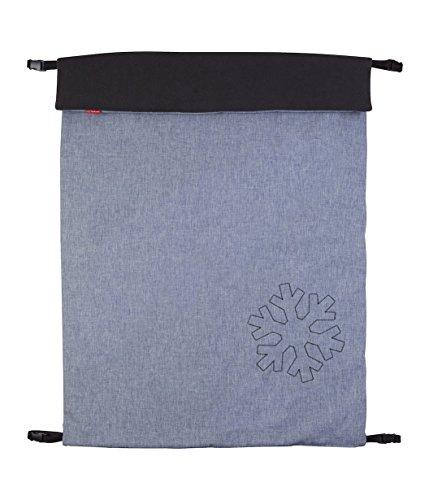 ByBoom - Softshell Decke 70x100 cm Thermo Aktiv; Funktions-/Universal-/Outdoor-Babydecke für Kinderwagen, Buggy, Jogger, Farbe:Grau Melange/Anthrazit
