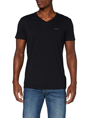 Diesel Herren T-Shirt UMTEE-JAKE-VTHREEPAC (3er Pack), Mehrfarbig (Black/White/Grey 01-0Aalw), L