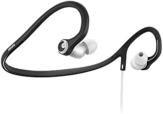 Philips SHQ4300WS/27 ActionFit Earbuds Sports Neckband Headphones, Black