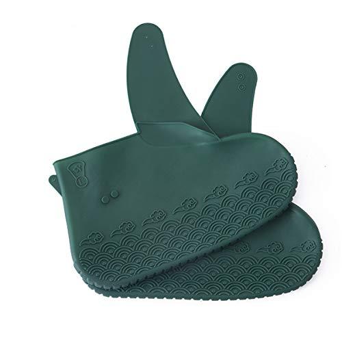 QNMM 2PCS wasserdichte Silikon-Schuhhülle, wasserdichte Silikon-Schuhüberzüge Für Den Außenbereich Und Wiederverwendbare Regenstiefel-Überschuhe Für Kinder, Männer Und Frauen