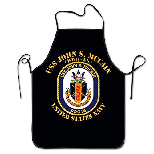 Tablier de Cuisine étanche Tablier de Cuisine réglable USS S. McCain DDG 56 pour Cuisine Familial,Restaurant,Jardin