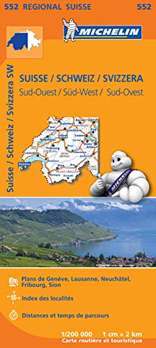 Carte Suisse Sud-Ouest Michelin