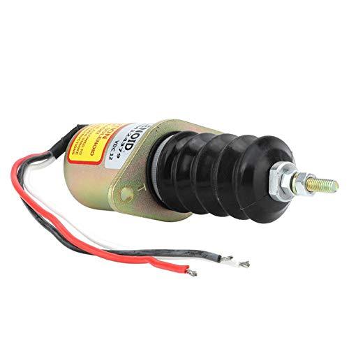 SALUTUYA Solenoide de Parada de Motor AM124379, solenoide de Apagado de 12 V para Control de Interruptor de válvula solenoide para Motor diésel