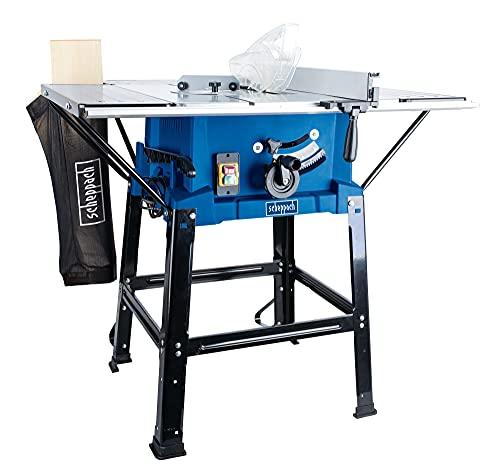 scheppach Tischkreissäge HS110 - 2000W | Sägeblatt Ø 254mm | Schnitthöhe 83 mm | inkl. Tischverbreiterungen und Untergestell