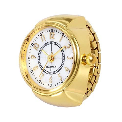 JZDH Relojes para Mujer Marca de Cuarzo analógico Reloj Creativo Acero Fresco elástico Dedo Dedo Dedo Dedo Reloj Reloj Reloj Hombre Reloj Moda cronógrafo Relojes Decorativos Casuales para Niñas Damas