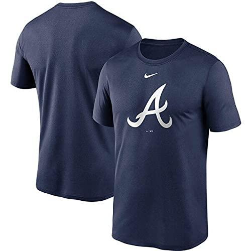 ブレーブス Tシャツ MLB ナイキ NIKE 半袖 メンズ Team Large Logo T-Shirt ネイビー - M
